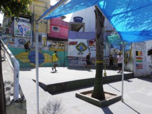 Football in the public spaces of Rocinha
