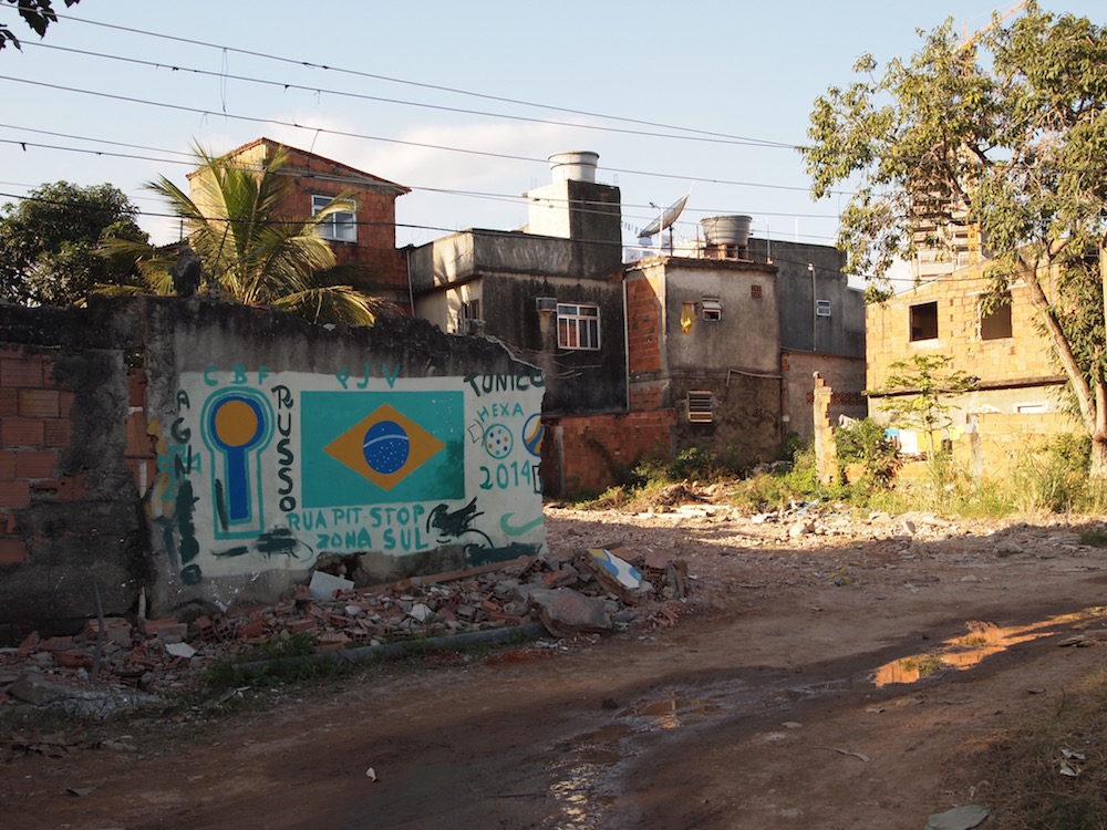 Destroyed houses in Vila Autódromo