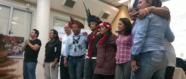 Indigenous people pose for photo during the meet.