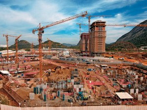 Odebrecht image of Ilha Pura construction
