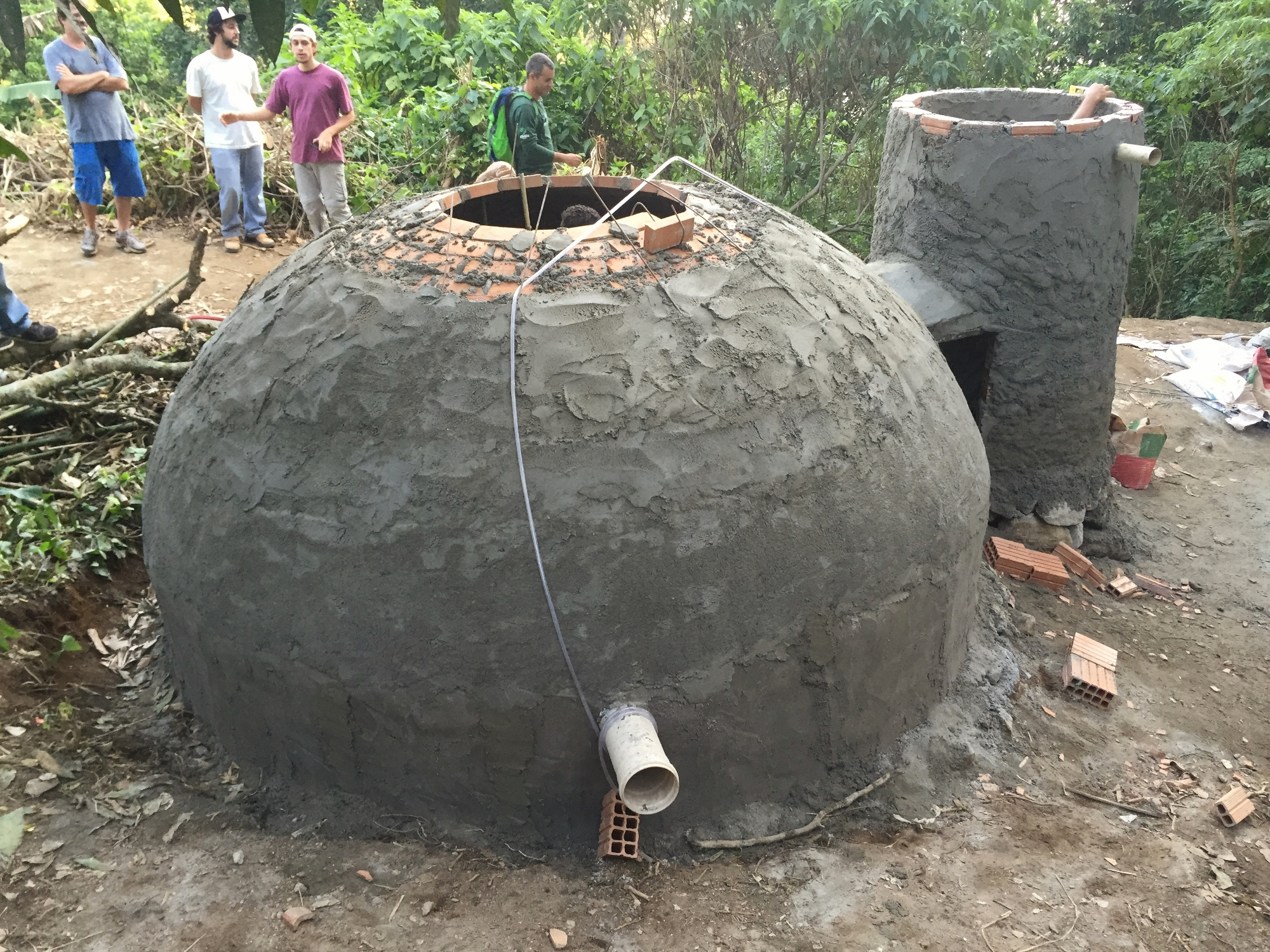 Biodigester construction progress September