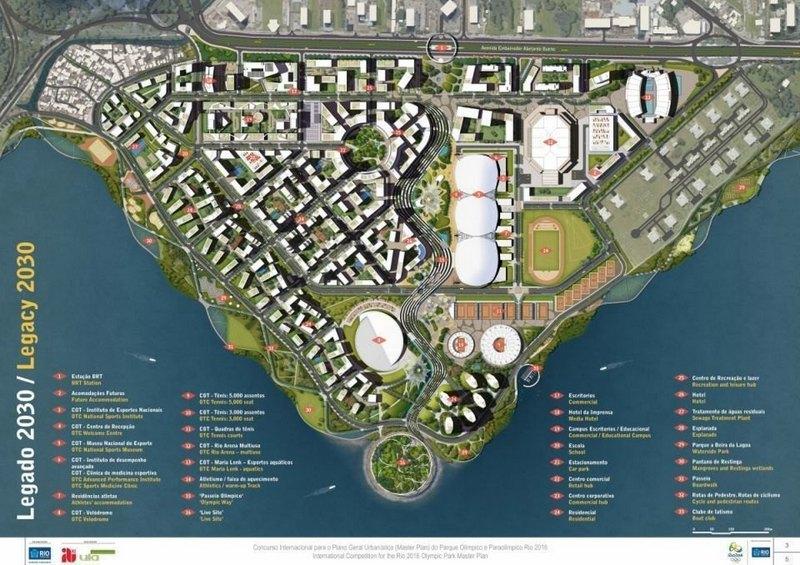 Plano da AECOM para o Parque Olímpico em 2030
