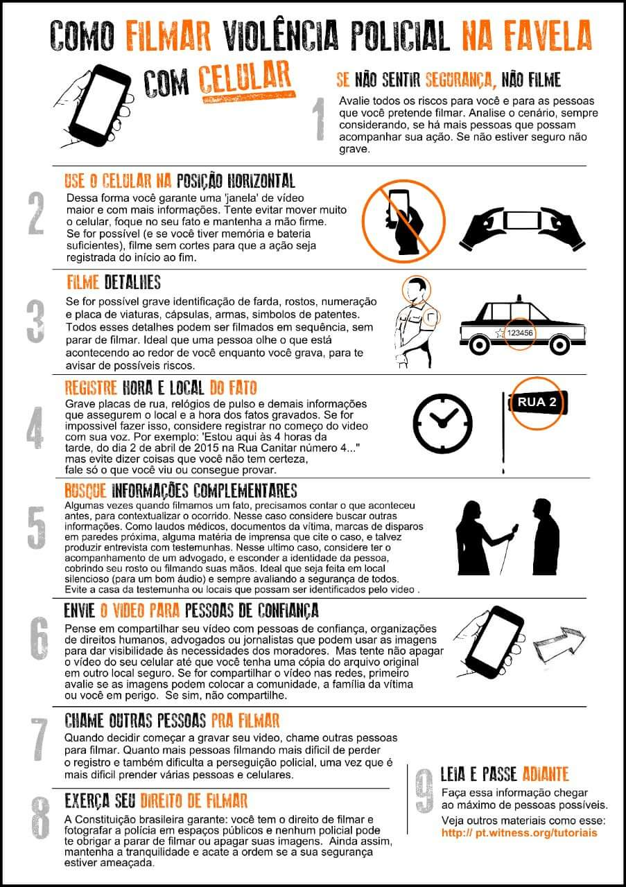 Coletivo Papo Reto's 9-step flyer