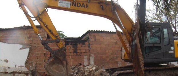 Demolitions in Vila Autódromo this October. Photo from Vila Autódromo's Facebook page