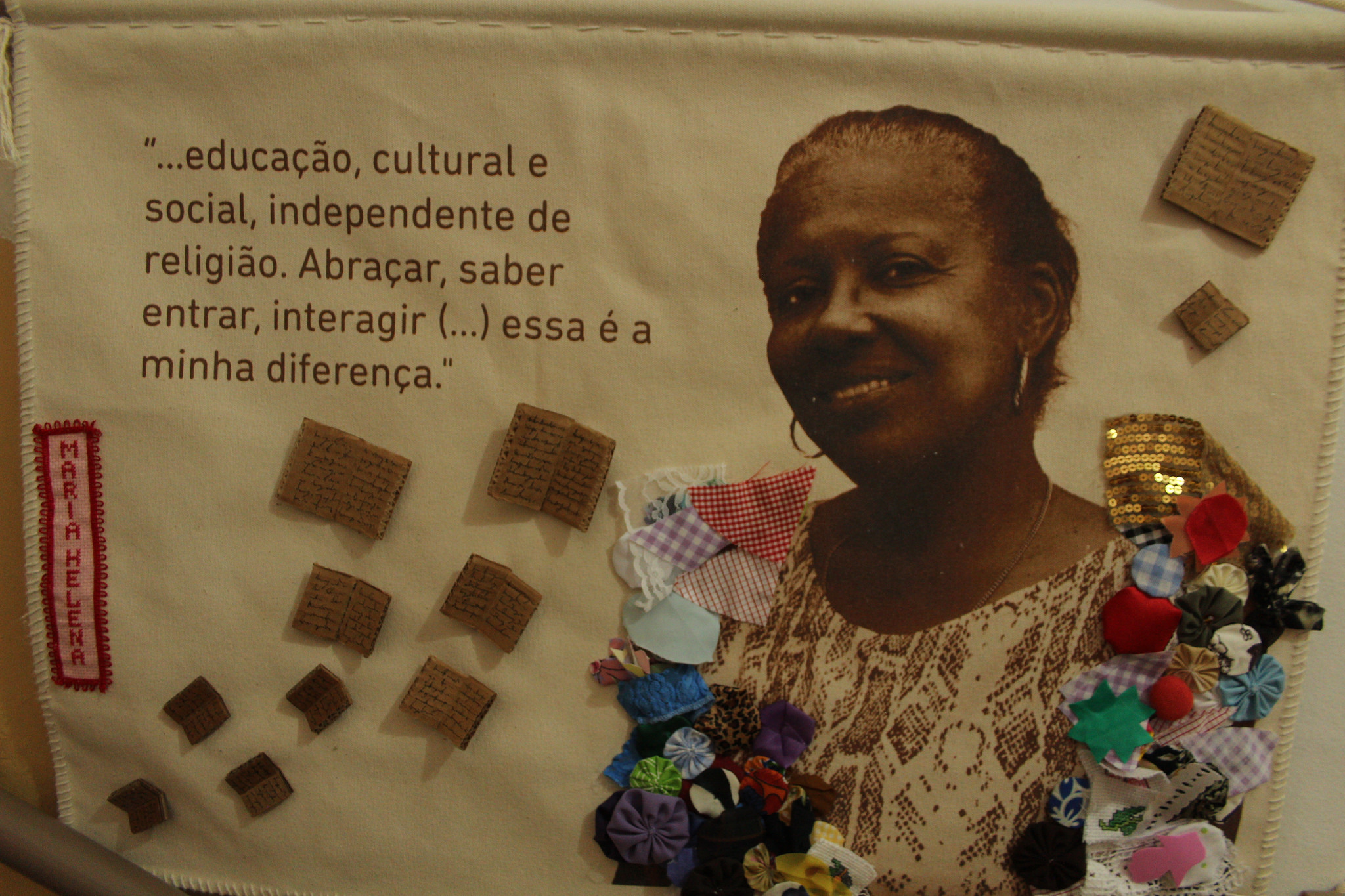 """Maria Helena: """"… education, cultural and social activities, regardless of religion. Embrace, learn, receive, interact… that is my difference."""""""