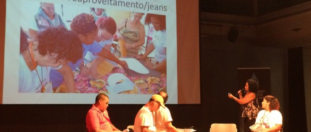 Janete Guilherme explains her work with the Women of Salgueiro