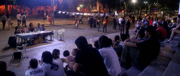 The event took place in the Cinelândia square
