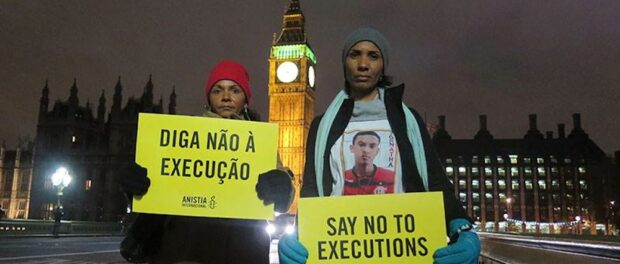Terezinha and Ana Paula speak out in London against Brazil's police violence. Photo by Anistia Internacional Brasil