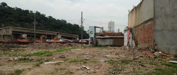 The area where Vila Autódromo's daycare center will be built
