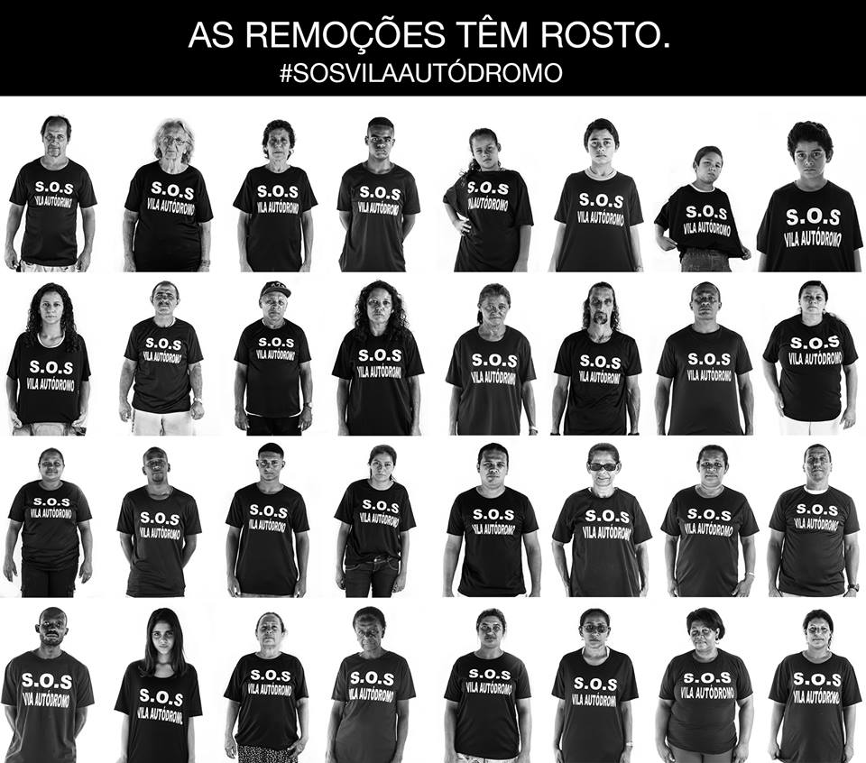 Evictions Have a Face. S.O.S. Vila Autódromo. Photo project by Guilherme Imbassahy
