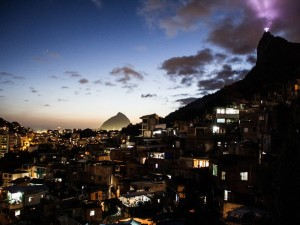 Favelas usually have the most fantastic views of the city – this tends to increase tourism to the areas. Photo by Amaury Alves