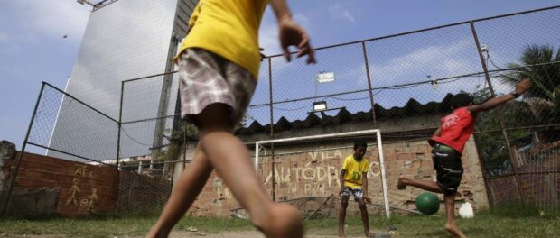 Children play soccer in Vila Autódromo, July 28, 2015. Photo by Ricardo Moraes—Reuters