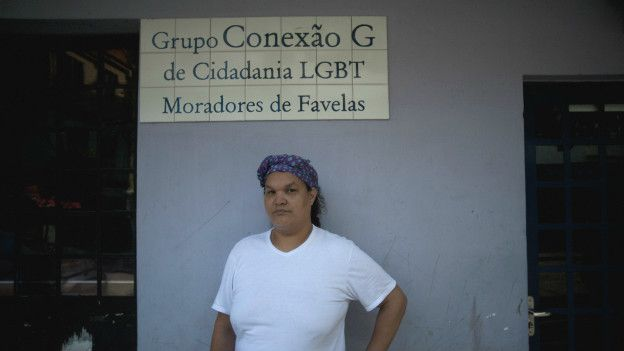 Gilmara helped to create LGBT pride marches in Maré, Alemão and Rocinha, three big favelas in Rio. Photo by Fabio Teixeira.