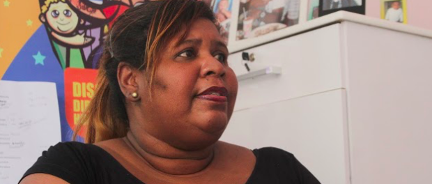 Denise de Morais, mother of the motor-taxi driver Caio Moraes, killed by the Military Police in 2014 in Grota, Complexo do Alemão.