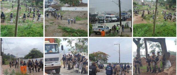 150 Shock Troops enter Vila Autódromo on January 21