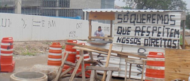 New barricade erected by the community on January 14
