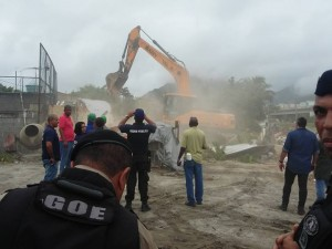 Demolition of Altair's house. Photo from Vila Autódromo community Facebook page