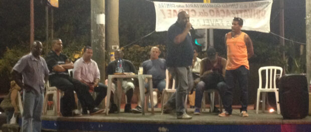 Community leaders discuss CEDAE privatization in Vidigal