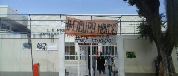 Students have occupied Colégio Estadual Prefeito Mendes de Moraes