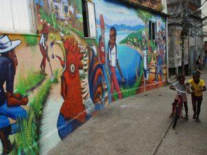 Museu de Favela grafitti in Cantagalo. Photo by Andre Gomes de Melo