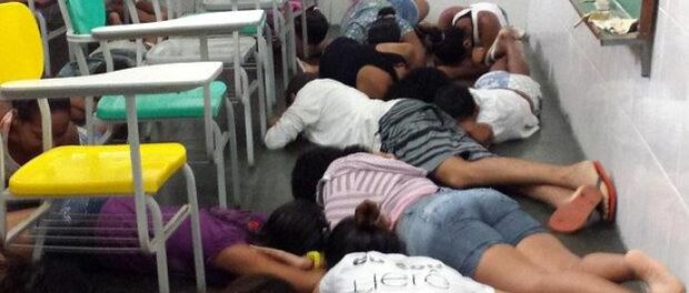 Maré school students protect themselves during shootout