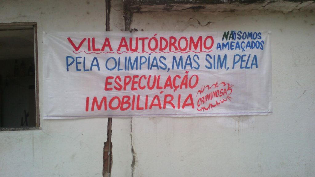 """Vila Autódromo: We're not being threatened by the Olympics, but by criminal real estate speculation"""