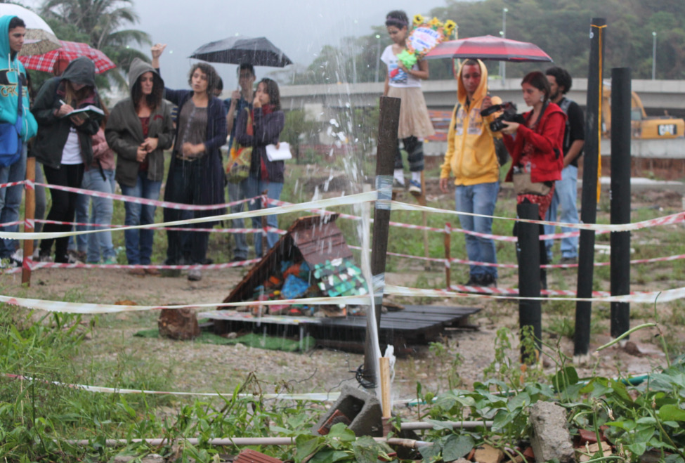 Evictions Museum exhibit in Vila Autódromo