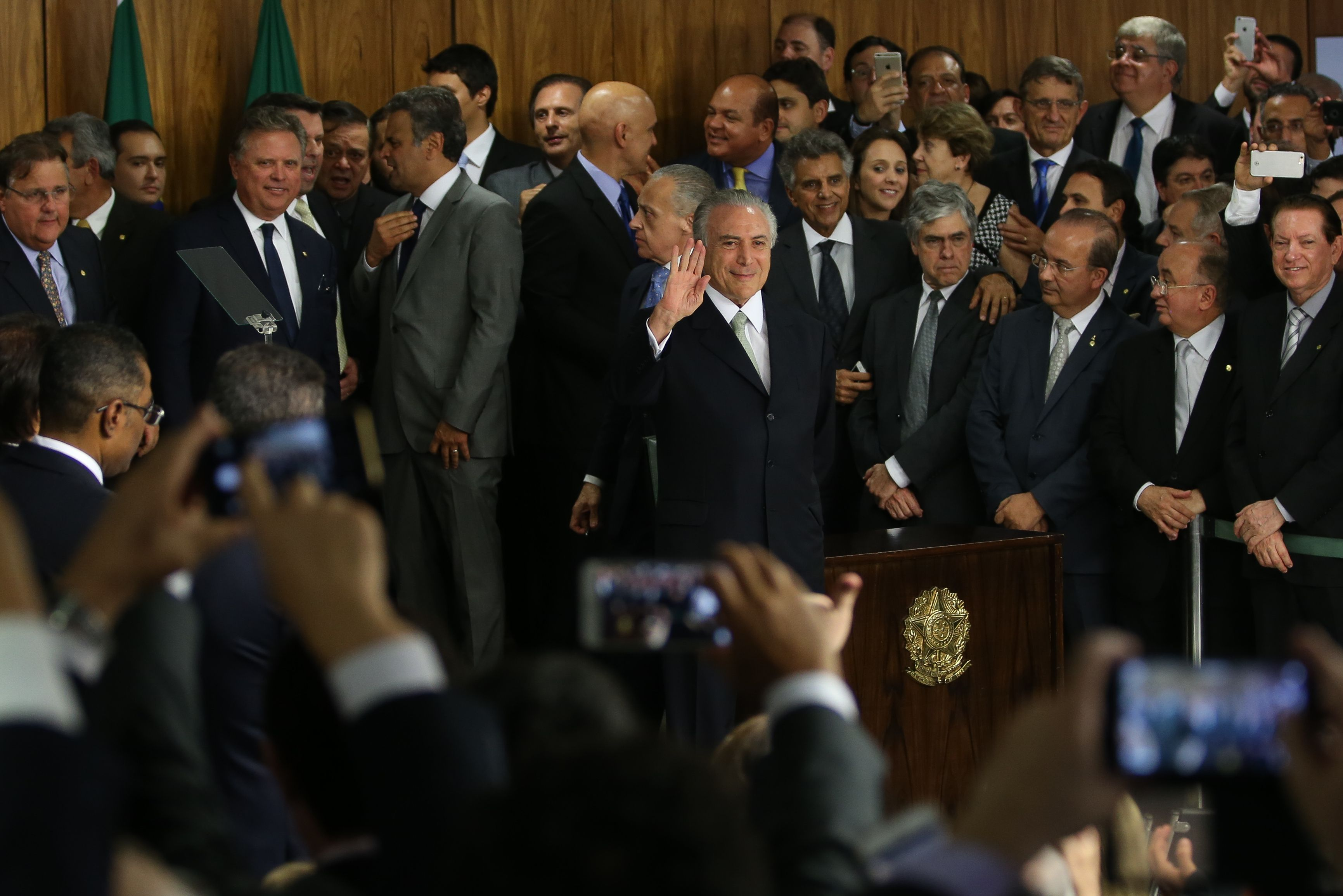 President Michel Temer at the swearing-in ceremony of new ministers. Photo by Marcello Casal Jr/Agência Brasil