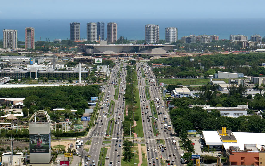 Barra da Tijuca is designed for car transport