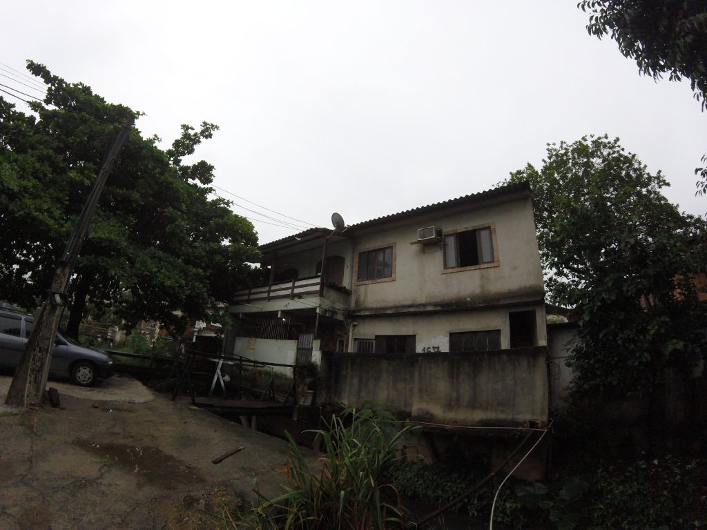 The overall structure is divided into four parts: three homes and what the family used as their factory for surfing shorts.