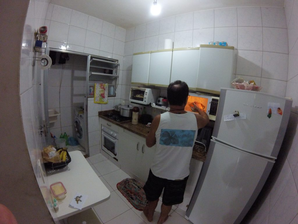 Daniel in one of the three kitchens within the house. The house also has six bedrooms.