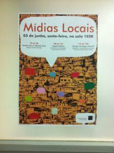 Mídias Locais lecture series poster