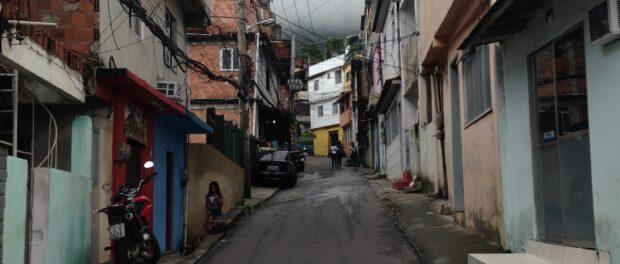 The calm, quiet street of Vila Laboriaux where Diogo lives.