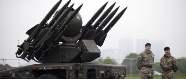 Surface-to-air Rapier missile deployed in the 2012 London Olympics. Photo by Eddie Mulholland / The Telegraph