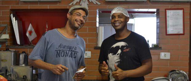 Emerson and Marcelo in the Padaria Caliel