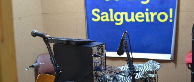 In the studio of the community radio station