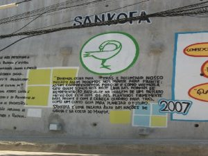 Sankofa Museum mural in Rocinha
