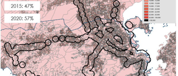 Transit sheds and population density in Rio de Janeiro