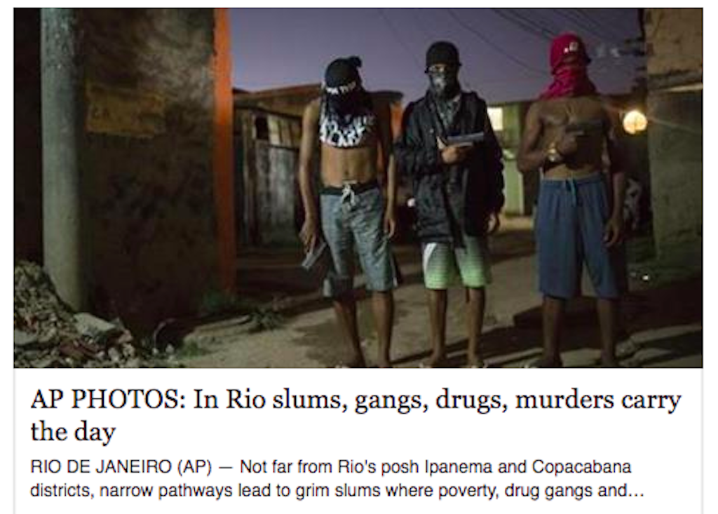 Recent Associated Press article on favelas