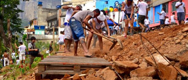 Constructing the plaza