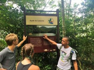 Adilson Almeida leads hike through Pedra Branca Forest