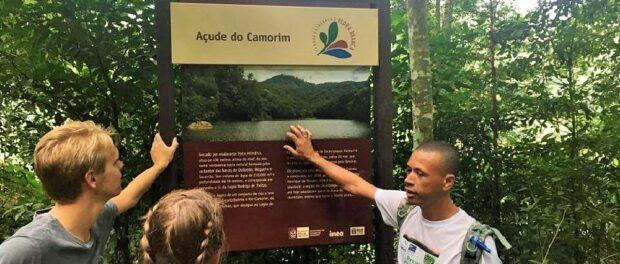 Adilson Almeida leads hike through Pedra Branca Forest