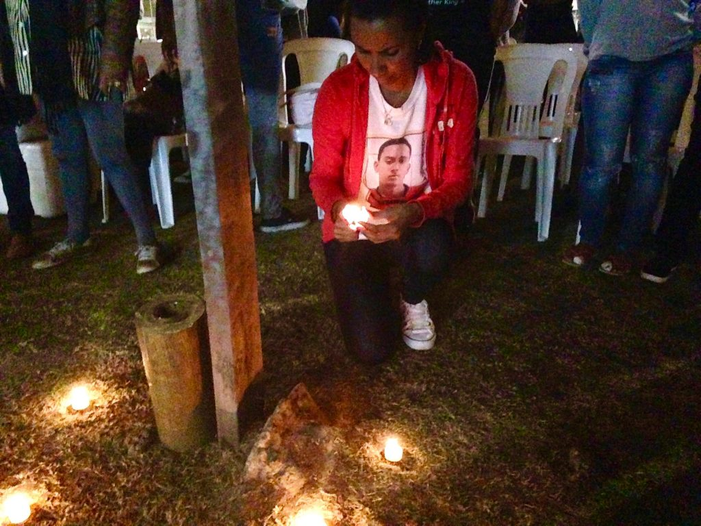 Ana Paula Oliveira, whose son Jonatha was killed by police in Manguinhos in 2014