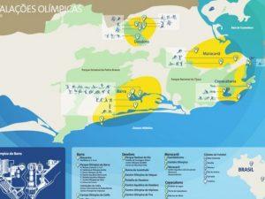 Olympic centers in Rio de Janeiro