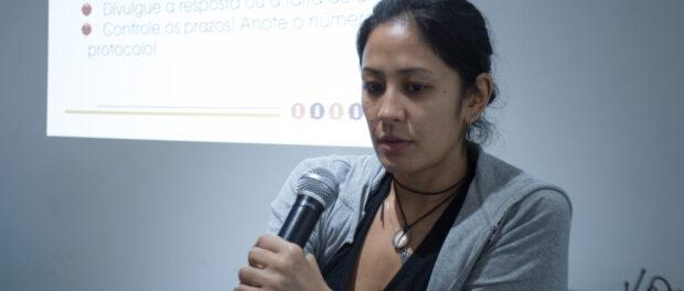 Mariana Tamari from Artigo 19. Photo by José Cicero/Agência Pública