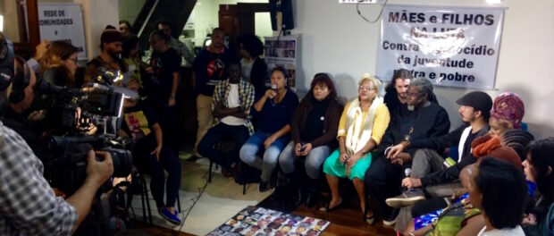 Press conference on first day of Black Lives Matter visit to Rio