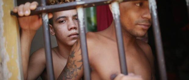 Inmates at the Pedrinhas prison complex in Sao Luis, Brazil. Photo by Mario Tama/Getty Images / The Globe and Mail