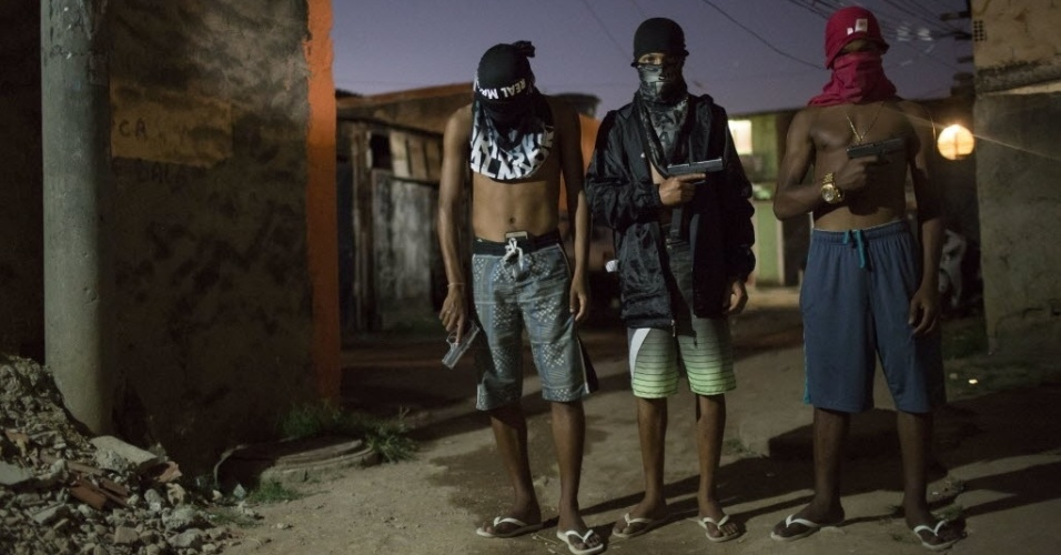 AP article perpetuates the stigmatizing view of favelas life as completely dominated by drug trafficking. Photo by AP/Felipe Dana