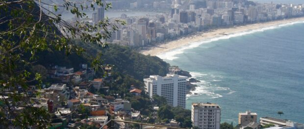 A view of Leblon and Ipanema, where Suzanna da Silva's daughters attend school, as soon from Vidigal
