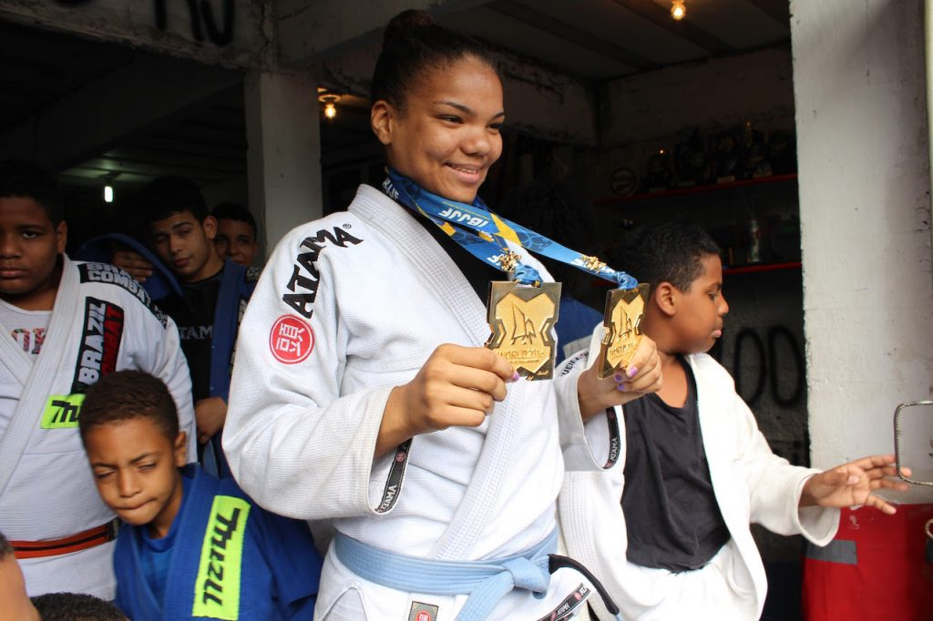 Gabi Pessanha, young jiu jitsu fighter from City of God
